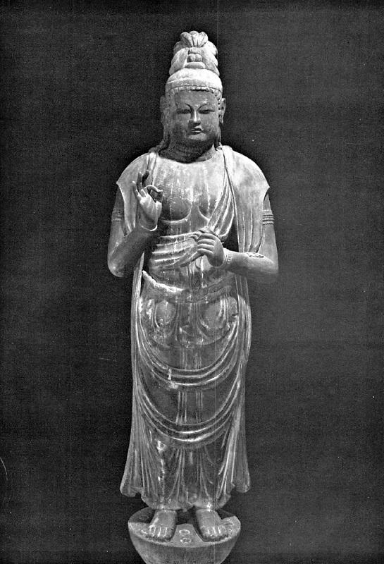 香川 正花寺・菩薩像(9C)~平安彫刻展図録掲載写真