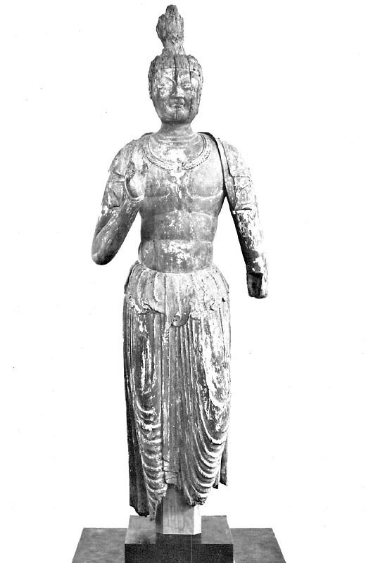 愛媛 庄部落・菩薩像(9C)~平安彫刻展図録掲載写真