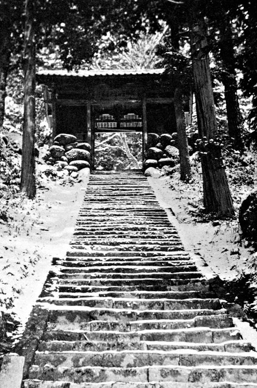 昭和30年代の古保利薬師堂・仁王門の写真