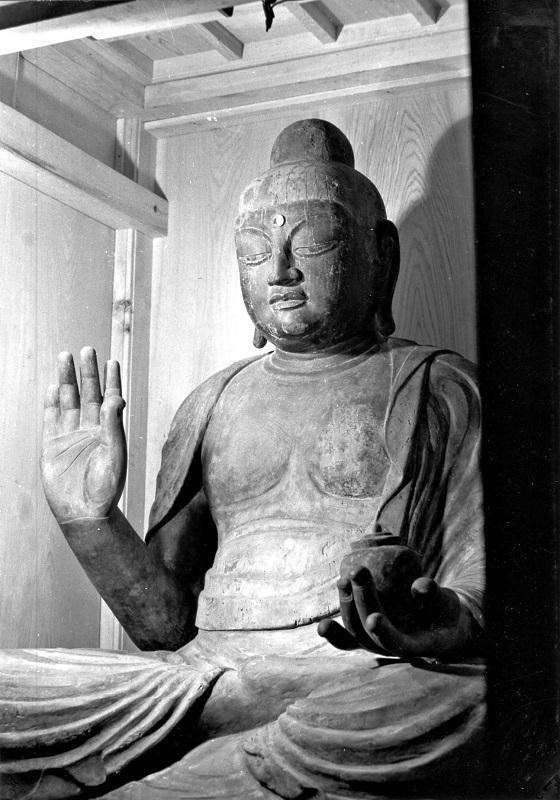 古保利薬師堂・薬師如来像~昭和47年(1972)撮影写真
