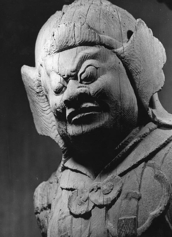 古保利薬師堂・四天王像~持国天像~昭和47年(1972)撮影写真