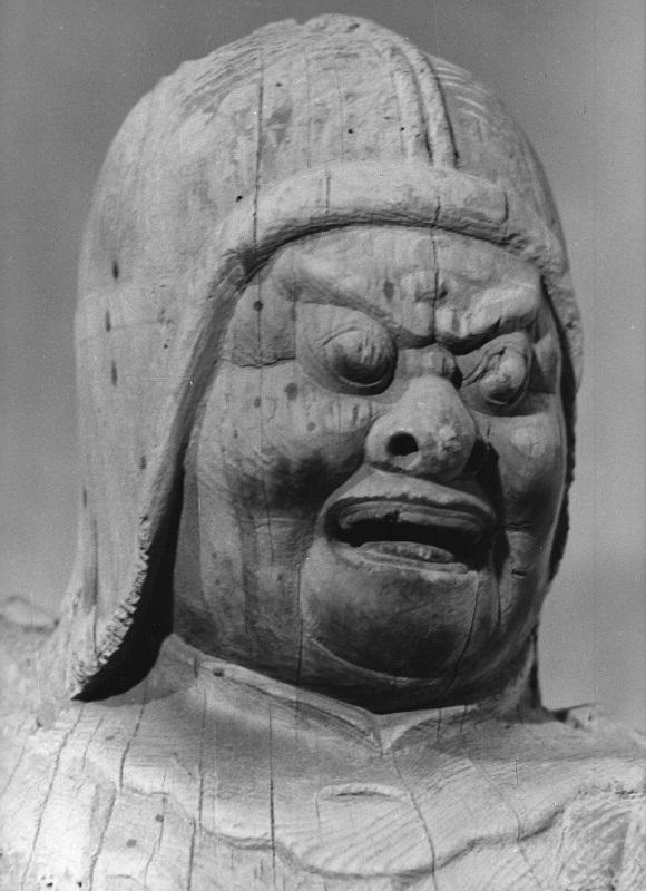 古保利薬師堂・四天王像~広目天像~昭和47年(1972)撮影写真