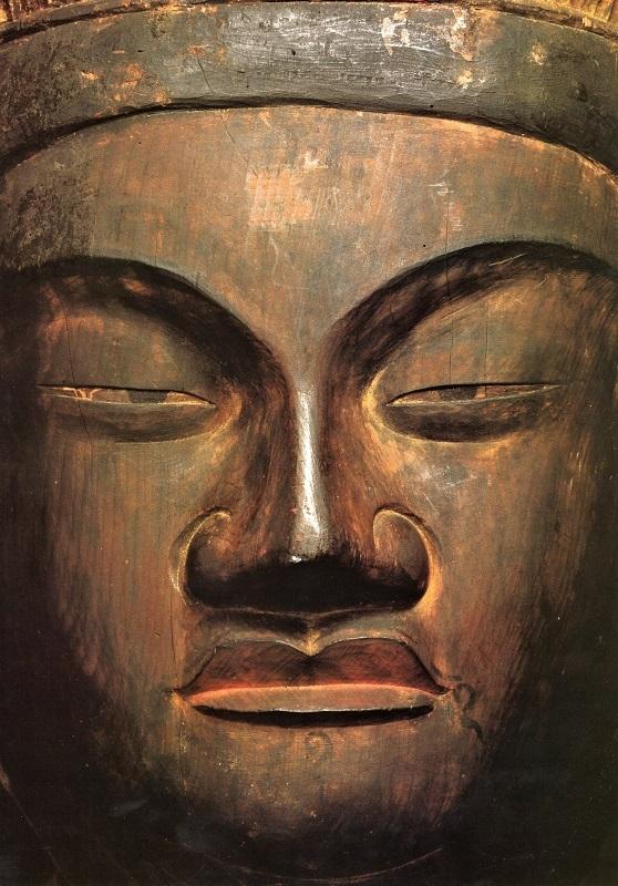 厳しく鋭い眼光の観菩提寺・十一面観音像 顔貌