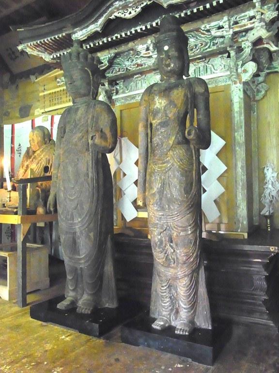 秋田 小沼神社・聖観音像、十一面観音像