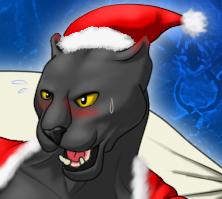 クリスマス黒豹顔