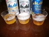 アサヒビール「アサヒ生ビール」&「グランマイルド」 色比較