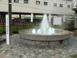 富山地鉄宇奈月温泉駅 駅前噴水