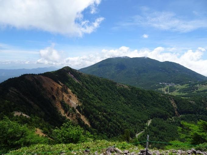 水の塔山、黒斑山、浅間山