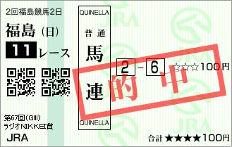 ラジオNIKKEI賞_的中