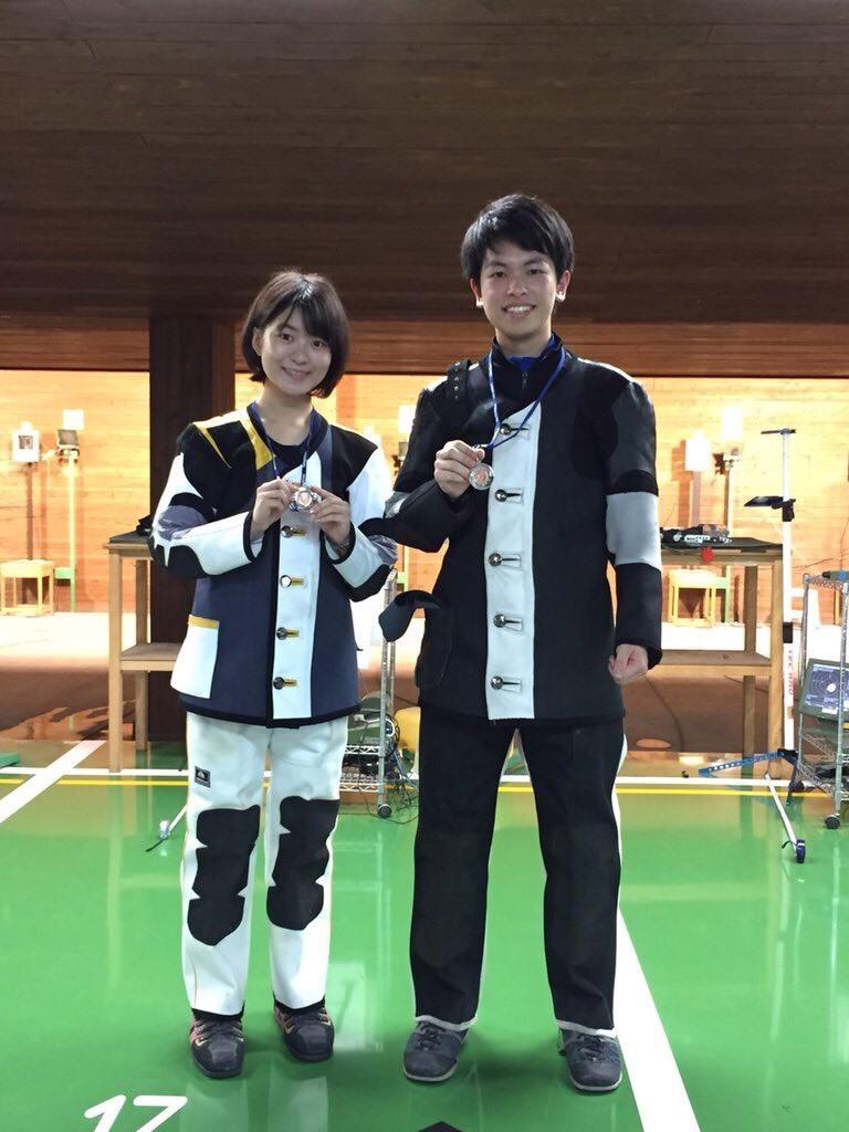 井尻さん杉岡 メダル