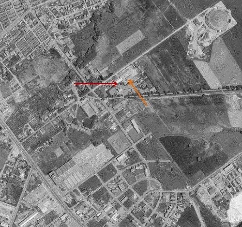 空中写真 1971年 家畜保健衛生所周辺
