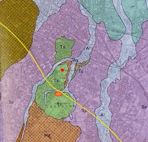 新札幌市史第一巻 付録地形図 向ヶ丘周辺