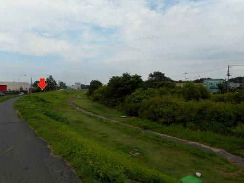 厚別川 清田1条1丁目 用水記念碑付近