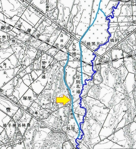昭和10年地形図 吉田用水
