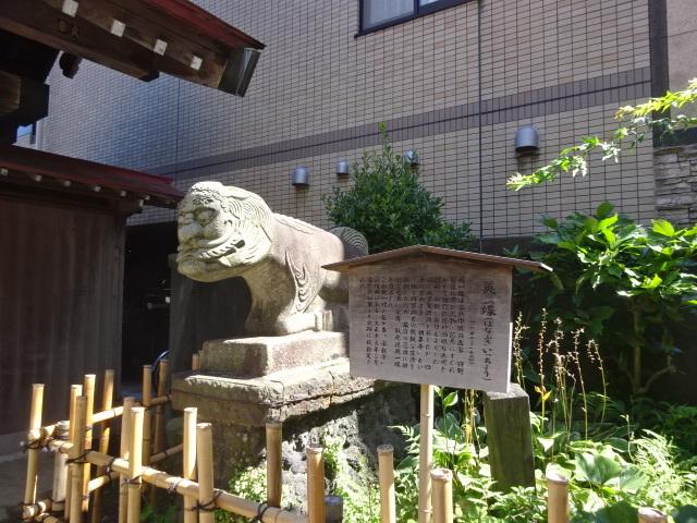承教寺の狛件(こまくだん)