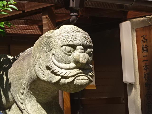 承教寺の狛件(こまくだん)アップ
