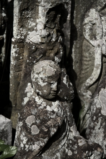 崎のお寺のお地蔵さんたち