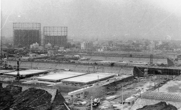 昭和22年当時の新宿淀橋浄水場