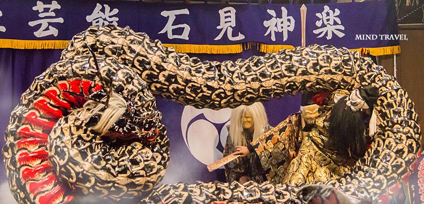八坂神社 石見神楽 大蛇 大蛇と戦うスサノオ