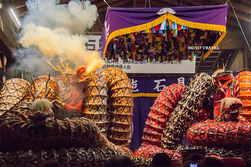 八坂神社 石見神楽 火を噴く大蛇2
