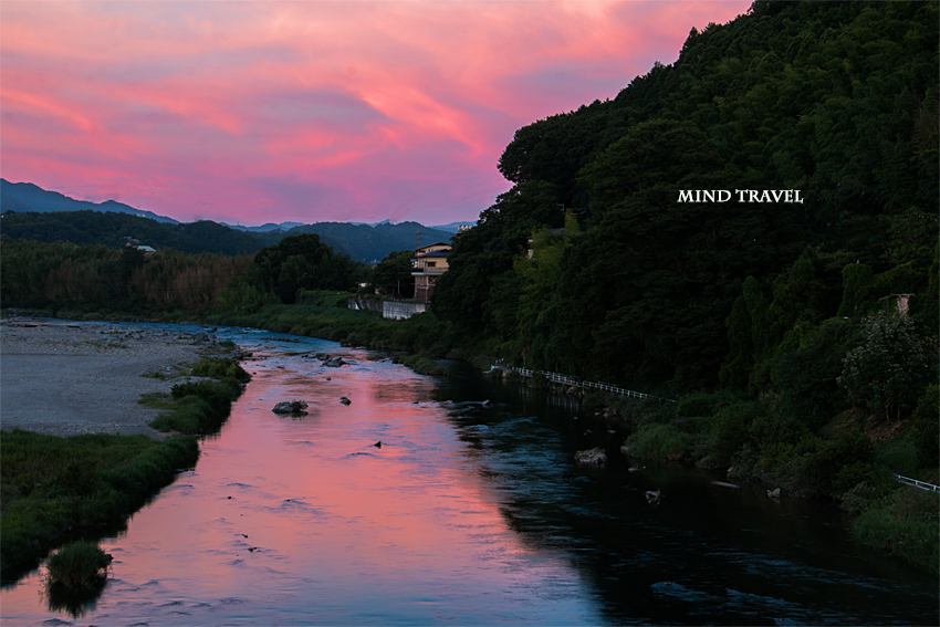 吉野川 夕景