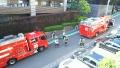 消防自動車が来た♪