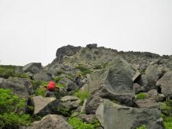 最後の岩場