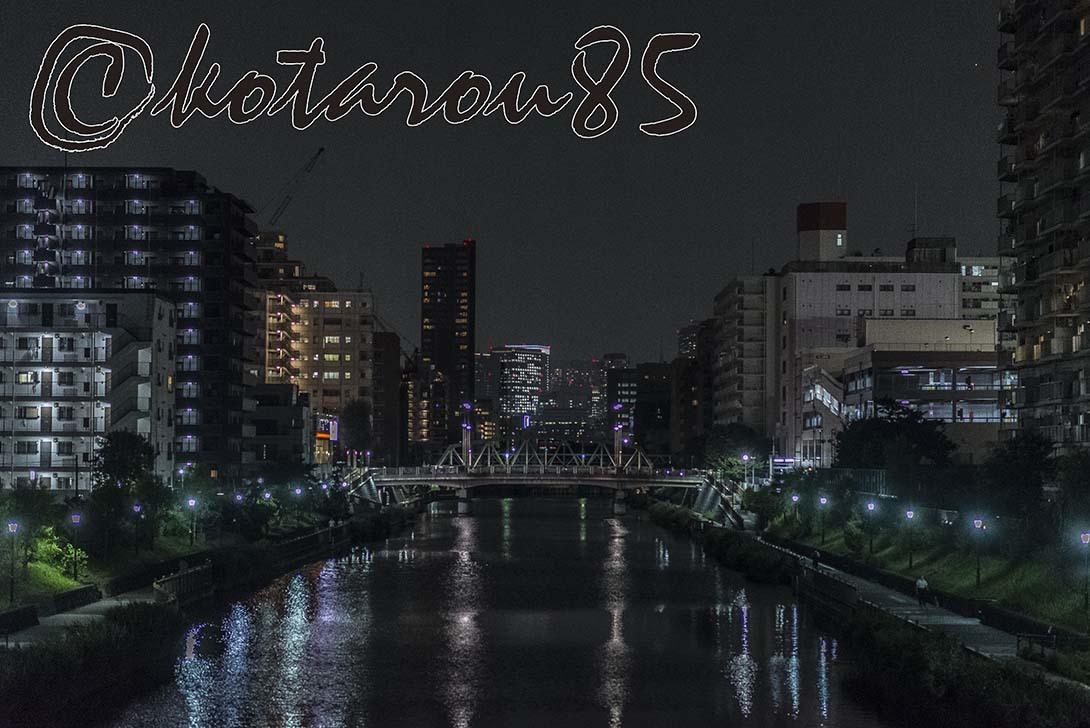 夜の小名木川 20180719