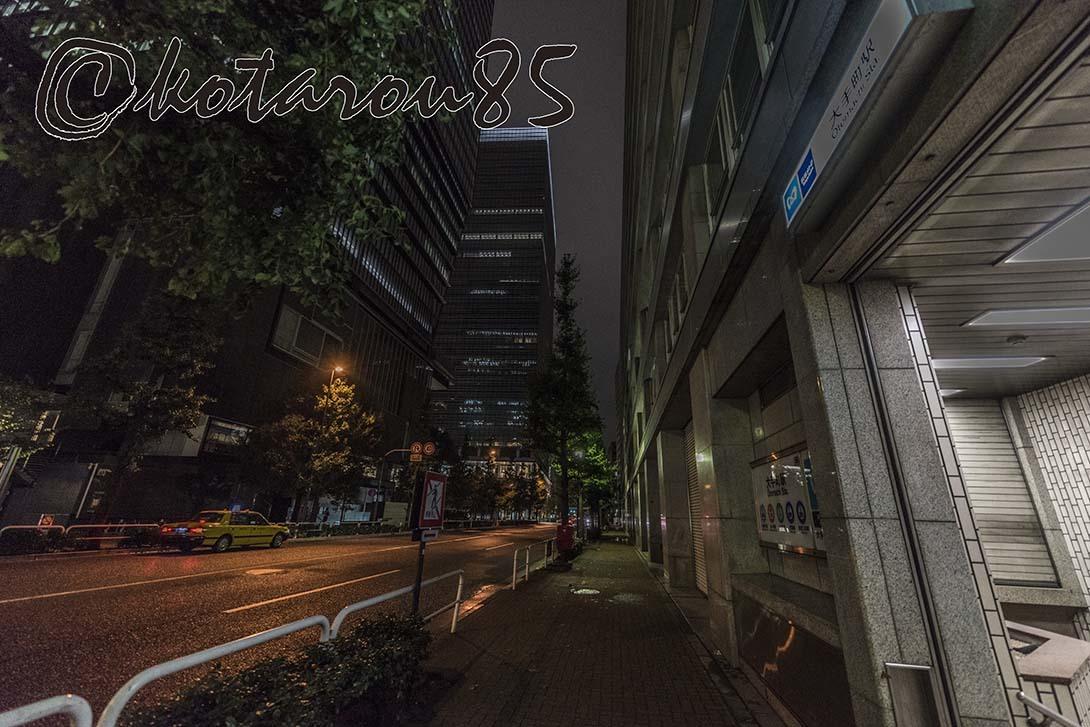 台風12号下の大手町 20180729