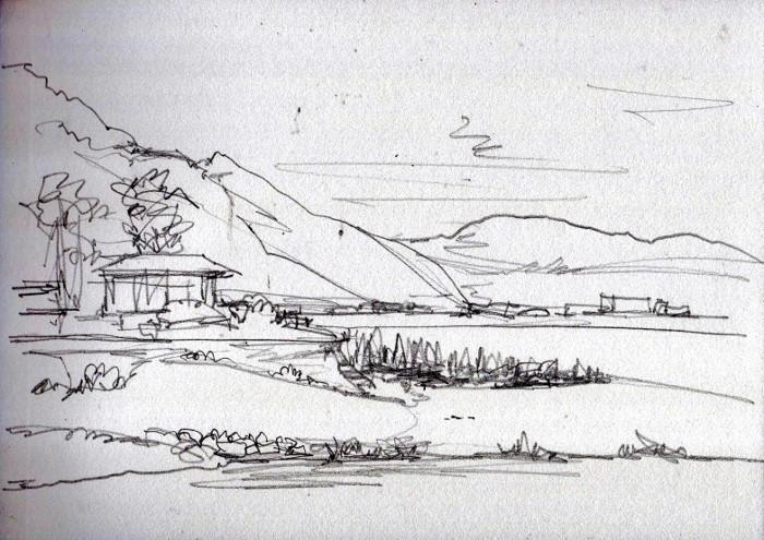 洲本の海岸 デッサン (700x495)