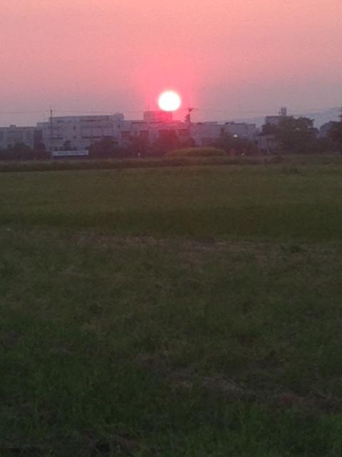 夕焼け7月