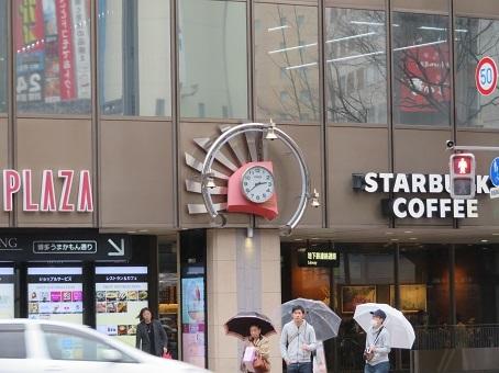 博多スターバックスの時計