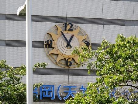 西鉄福岡駅の大時計1