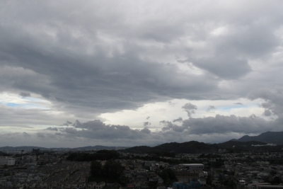 7月5日の空、黒雲