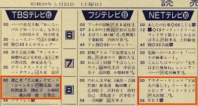 2018年12月会報テレビ番組表