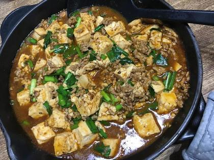 スキレットで麻婆豆腐