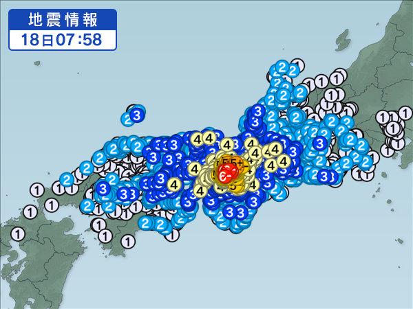 地震 近畿