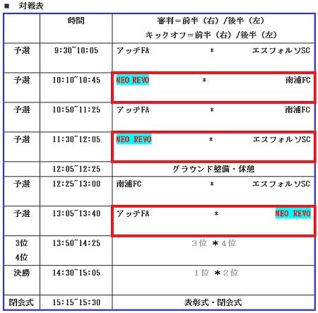 8.6(月)4年、夏休みU-10アッチCUP③