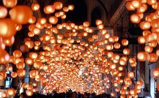 The decoration of lantern♪
