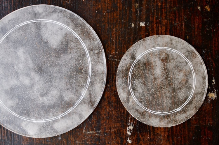オオタ硝子研究室/プレート皿 大、小