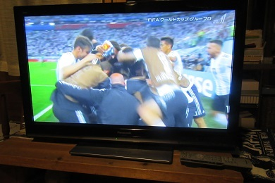 喜ぶアルゼンチン
