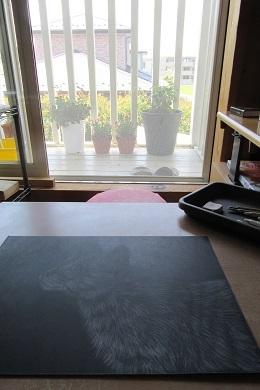 お絵描きもしました。
