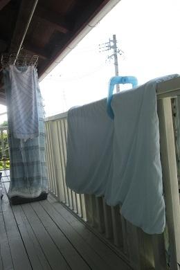洗濯して布団洗って