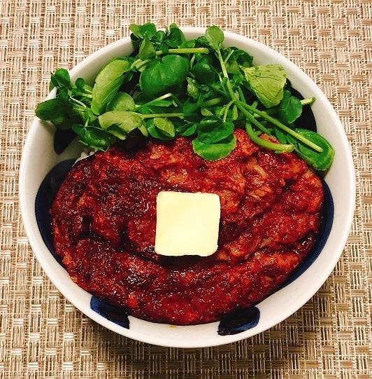 ビギナーズコンビーフハンバーグ丼8