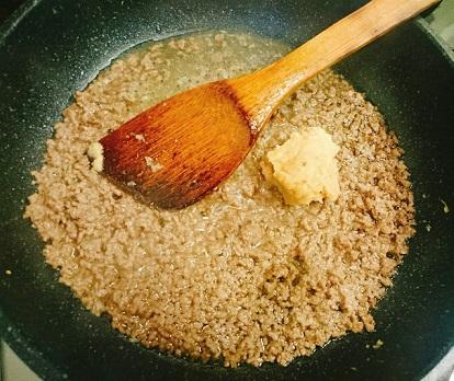 ピリ辛肉みそ隠れ納豆丼2