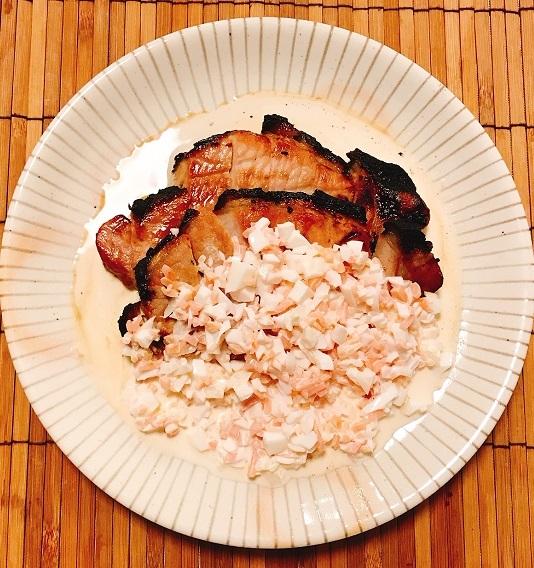 豚肩ロースの炭火焼き 桃色タルタル添え6