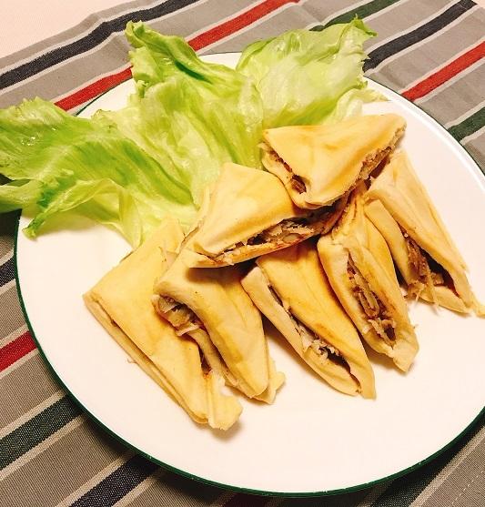 高野豆腐のゴボウサラダホットサンド6