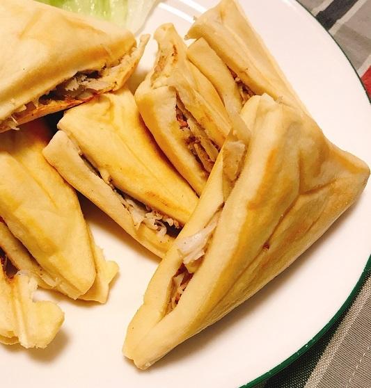 高野豆腐のゴボウサラダホットサンド7