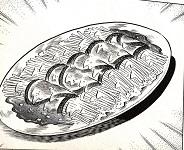 味吉陽一特製ナス巻きミートソーススパゲティ図