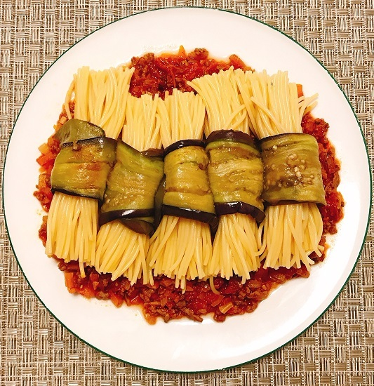 味吉陽一特製ナス巻きミートソーススパゲティ&丸井善男特製クルミ入りミートソーススパゲティ17